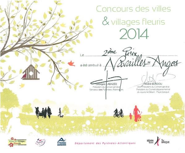 Diplme  villages fleuris 2014 76