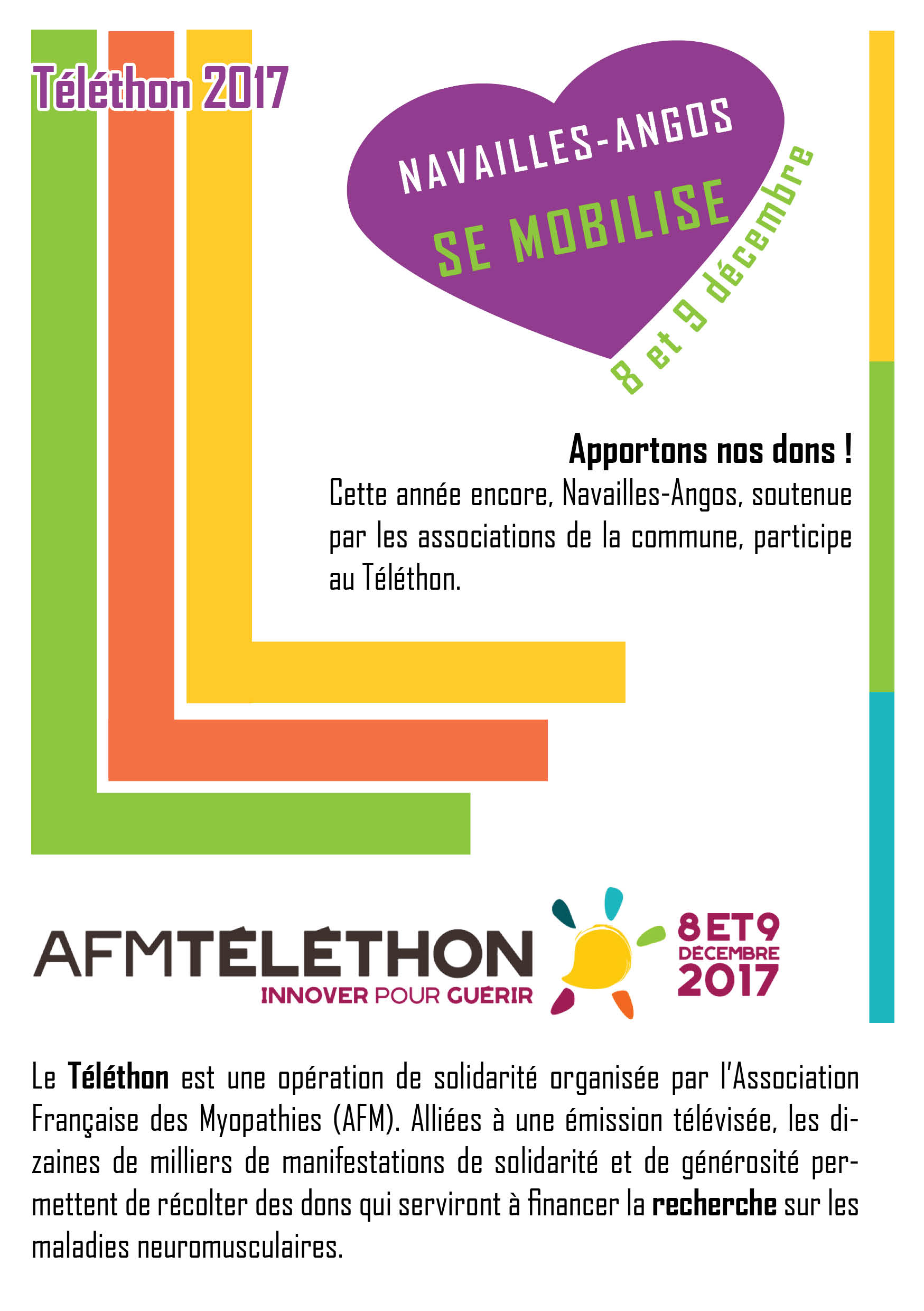 Flyer Recto Verso Telethon 2017 RECTO